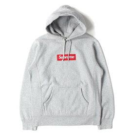 Supreme シュプリーム パーカー 12AW BOXロゴ スウェット パーカー Box Logo Pullover ヘザーグレー M 【メンズ】【中古】【K2625】