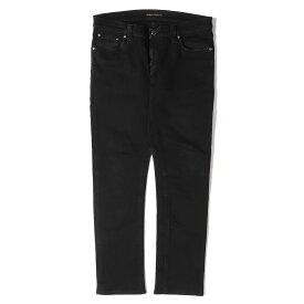 Nudie Jeans (ヌーディージーンズ) ストレッチスキニーデニムパンツ(TIGHT LONG JOHN) ブラック 31 【メンズ】【中古】【K2662】