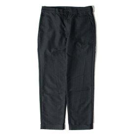 COMME des GARCONS (コムデギャルソン) パンツ 12AW ポリ ウール ストライプ パンツ ネイビー M 【メンズ】【中古】【美品】【K2434】【あす楽☆対応可】