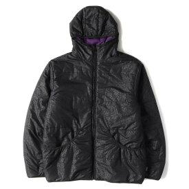 STUSSY ステューシー ジャケット インターナショナル 柄 リバーシブル 中綿 ジャケット ブラック×パープル L 【メンズ】【中古】【K2443】【あす楽☆対応可】