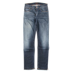 Nudie Jeans ヌーディージーンズ デニムパンツ ヴィンテージ 加工 ストレッチ スリム デニム パンツ SUPER SLIM KIM インディゴ W26×L32 【メンズ】【中古】【K2457】【あす楽☆対応可】