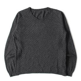SOPHNET ソフネット セーター ドット 柄 アンゴラ ウール ニット セーター チャコール L 【メンズ】【中古】【K2503】【あす楽☆対応可】