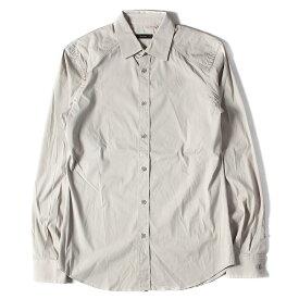 Belstaff ベルスタッフ シャツ パテッド ストレッチ コットン ボタン シャツ グレージュ S 【メンズ】【中古】【K2788】【あす楽☆対応可】