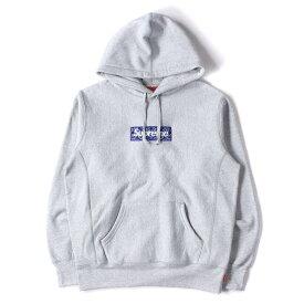 Supreme シュプリーム パーカー 19AW バンダナ BOXロゴ パーカー Bandana Box Logo Hooded Sweatshirt ヘザーグレー S 【メンズ】【K2835】