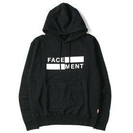 FACETASM ファセッタズム パーカー 19SS fragment design THE CONVENI 限定カラー コラボロゴ スウェット パーカー ブラック S 【メンズ】【K2767】
