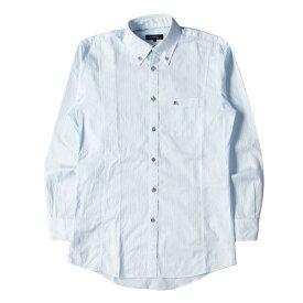 BURBERRY バーバリー シャツ シャドーストライプ ボタンダウンシャツ BLACK LABEL ライトブルー 39 【メンズ】【中古】【K2512】