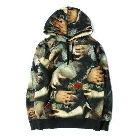 Supreme シュプリーム パーカー 15SS × UNDERCOVER 総柄 スウェット パーカー Hooded Sweatshirt ブラック S 【メンズ】【美品】【中古】【K2606】
