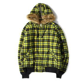 Supreme シュプリーム ジャケット 18AW チェックウール N-2B フライトジャケット Wool N-2B Jacket イエロープレイド XL 【メンズ】【美品】【中古】【K2514】