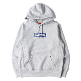 Supreme シュプリーム パーカー 19AW バンダナ BOXロゴ パーカー Bandana Box Logo Hooded Sweatshirt ヘザーグレー S 【メンズ】【K2625】