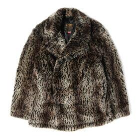 Supreme シュプリーム コート 17AW × Schott レオパード柄 フェイクファー Pコート Faux Fur Peacoat レオパード M 【メンズ】【美品】【中古】【K2544】