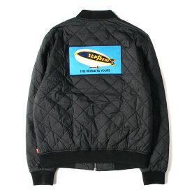 Supreme シュプリーム ジャケット ワッペン キルティング ワークジャケット Quilted Work Jacket 12SS ブラック S 【メンズ】【中古】【K2549】