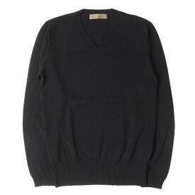 Yohji Yamamoto Y's ヨウジヤマモト セーター ストレッチ ウール ニット Vネック セーター 90s ブラック 3 【メンズ】【中古】【美品】【K2550】