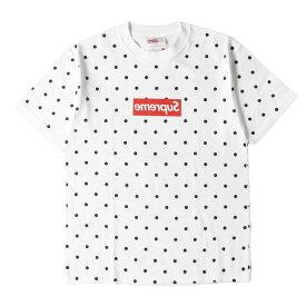 Supreme シュプリーム Tシャツ 12SS × COMME des GARCONS SHIRTS ドット BOXロゴ Tシャツ Box Logo Tee ホワイト S 【メンズ】【K2570】