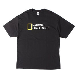 CHALLENGER チャレンジャー Tシャツ 19AW パロディーロゴ Tシャツ NATIONAL CHALLENGER TEE ブラック XL 【メンズ】【中古】【美品】【K2725】