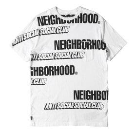 NEIGHBORHOOD ネイバーフッド Tシャツ 19AW Anti Social Social Club ブランドロゴ Tシャツ ASSC / C-TEE . SS ホワイト M 【メンズ】【美品】【中古】【K3034】