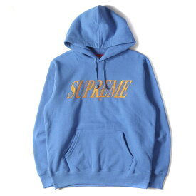 Supreme シュプリーム パーカー 20SS クロスオーバーロゴ刺繍 スウェットパーカー Crossover Hooded Sweatshirt ペールロイヤル S 【メンズ】【K2832】