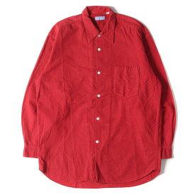 GOOD ENOUGH グッドイナフ シャツ 90s プレーン フランネル シャツ レッド M 【メンズ】【中古】【K2665】