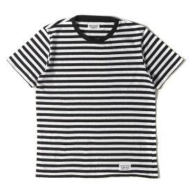 WACKO MARIA ワコマリア Tシャツ クルーネック ボーダー Tシャツ BORDER TEE ホワイト×ブラック S 【メンズ】【中古】【K3068】