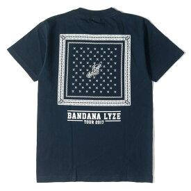 CHALLENGER チャレンジャー Tシャツ 17AW BANDANA LYZE バンダナ プリント Tシャツ BANDANA TEE ネイビー S 【メンズ】【中古】【美品】【K2679】