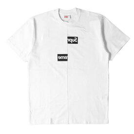 Supreme シュプリーム Tシャツ COMME des GARCONS SHIRT BOXロゴ Tシャツ Split Box Logo Tee 18AW ホワイト M 【メンズ】【K2749】