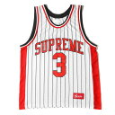 Supreme シュプリーム タンクトップ ストライプ バスケジャージ タンクトップ Crossover Basketball Jersey 16SS ホワ…