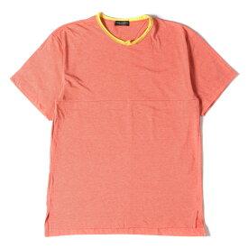 COMME des GARCONS コムデギャルソン Tシャツ 90's ポリコットン バイカラー クルーネック Tシャツ AD1993 日本製 サーモンピンク 【メンズ】【美品】【中古】【K2715】