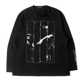 LAD MUSICIAN ラッドミュージシャン Tシャツ パーマネント ロッカー プリント ロングスリーブ ビッグ Tシャツ 19AW ブラック 46 【メンズ】【中古】【美品】【K2721】