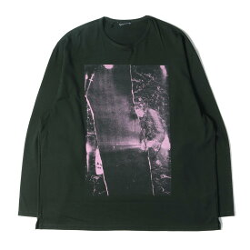 LAD MUSICIAN ラッドミュージシャン Tシャツ パーマネントロッカープリント ロングスリーブ ビッグTシャツ 19AW ダークグリーン 46 【メンズ】【美品】【中古】【K2721】