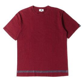 GOOD ENOUGH グッドイナフ Tシャツ 裾ロゴ クルーネック Tシャツ バーガンディー L 【メンズ】【中古】【K2722】