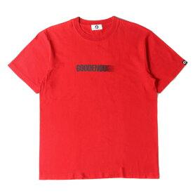 GOOD ENOUGH グッドイナフ Tシャツ モーションロゴ Tシャツ 復刻モデル PRINT TEE - MOTION 17SS レッド M位 【メンズ】【中古】【K2722】