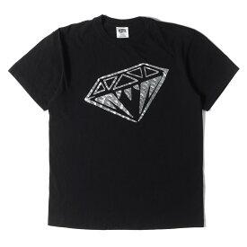 BBC ICE CREAM ビービーシー Tシャツ ホログラム ダイヤ Tシャツ ブラック L 【メンズ】【中古】【K2735】