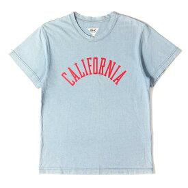 Ron Herman ロンハーマン Tシャツ USED加工 インディゴ染め クルーネックTシャツ RHC インディゴ M 【メンズ】【中古】【K2737】