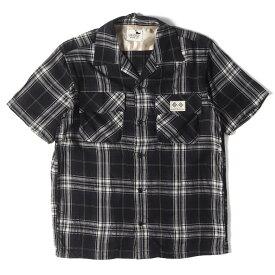 GANGSTERVILLE ギャングスタービル シャツ タータンチェック オープンカラー 半袖シャツ ブラック S 【メンズ】【中古】【K2741】
