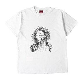 HIDE&SEEK ハイドアンドシーク Tシャツ キリスト グラフィック Tシャツ Jesus S/S Tee 19SS ホワイト L 【メンズ】【中古】【K2750】
