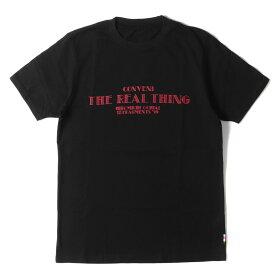 FACETASM ファセッタズム Tシャツ fragment design THE CONVENI 限定 カラー コラボ ロゴ Tシャツ 19SS ブラック S 【メンズ】【中古】【美品】【K2756】