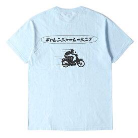 CHALLENGER チャレンジャー Tシャツ チャレンジャー レーシングロゴ Tシャツ CLGR RACING TEE 20AW パウダーブルー M 【メンズ】【美品】【中古】【K2756】