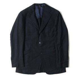 TOMORROWLAND トゥモローランド ジャケット 3B ウール テーラードジャケット ネイビー 46 【メンズ】【中古】【K2766】
