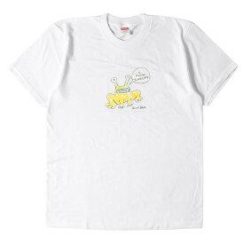 Supreme シュプリーム Tシャツ Daniel Johnston イラスト グラフィック Tシャツ Frog Tee 20SS ホワイト M 【メンズ】【K2771】