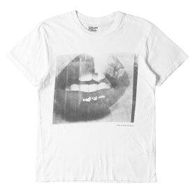 Rags McGREGOR ラグスマックレガー Tシャツ STIE lo 森山大道 モノクロリップ フォト クルーネックTシャツ ホワイト S 【メンズ】【中古】【K2773】
