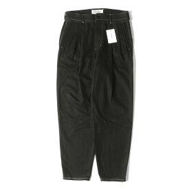 DISCOVERED ディスカバード パンツ 19AW カットオフ デザイン フランネル スラックスパンツ 日本製 ブラック 2 【メンズ】【K2832】