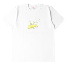 Supreme シュプリーム Tシャツ 20SS Daniel Johnston イラスト グラフィック Tシャツ Frog Tee ホワイト M 【メンズ】【中古】【新品同様】【K2785】