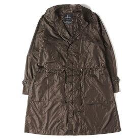 Yohji Yamamoto Y's ヨウジヤマモト コート ライトウェイト ナイロン コート ブラウン 2 【メンズ】【中古】【K2887】