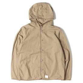 STANDARD CALIFORNIA スタンダードカリフォルニア ジャケット 18SS リップストップ コットン ファティーグシャツジャケット Fatigue Hood Shirt Jacket ベージュ L 【メンズ】【中古】【美品】【K2941】