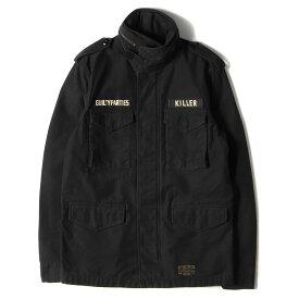 WACKO MARIA ワコマリア ジャケット メッセージロゴ バックサテン M-65ジャケット M-65 JKT ブラック M 【メンズ】【中古】【K2980】