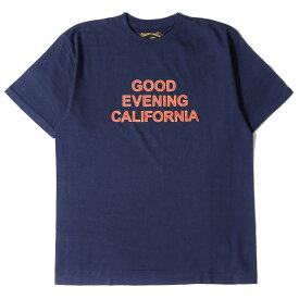 STANDARD CALIFORNIA スタンダードカリフォルニア Tシャツ ロゴプリント クルーネック Tシャツ SD GOOD EVENING CALIFORNIA T 20SS ネイビー L 【メンズ】【K2993】
