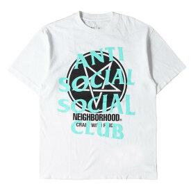 NEIGHBORHOOD ネイバーフッド Tシャツ 伊勢丹限定 ASSC スター ビッグロゴ Tシャツ F&F / C-TEE. SS 18SS ホワイト M 【メンズ】【美品】【中古】【K3070】