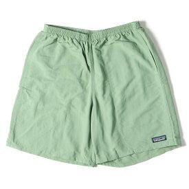 Patagonia パタゴニア パンツ 19SS バギーズショーツ ショートパンツ Baggies Shorts-7 マッチャ グリーン MACH S 【メンズ】【中古】【K3064】