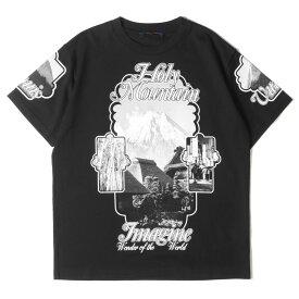 LOUIS VUITTON ルイヴィトン Tシャツ ホーリーマウンテン プリント Tシャツ RM192M NPG HHY01W ヴァージル・アブロー 19AW ブラック L 【メンズ】【美品】【中古】【K3064】