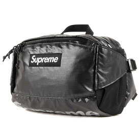 Supreme シュプリーム バッグ シャイニー リップストップ ウエストバッグ カバン 100D Cordura 4L Waist Bag 17AW ブラック 黒 【メンズ】【中古】【美品】【K3064】