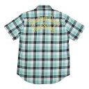 【値下げ】WACKO MARIA(ワコマリア) 15S/S  バックチェーン刺繍オンブレチェック半袖シャツ(COTTON OMBRE SHIRT S/S)…